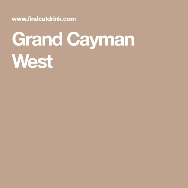 Grand Cayman West