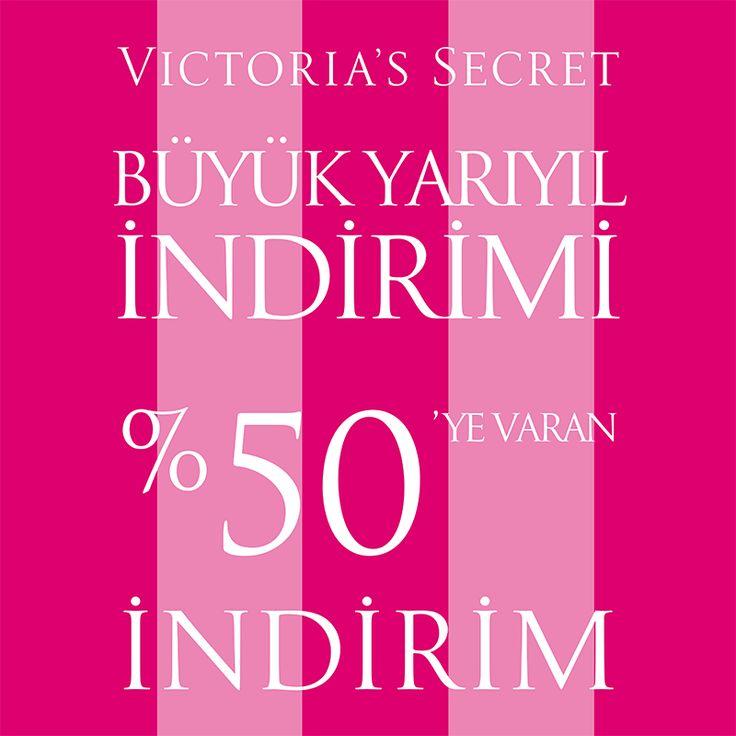 #ANKAmall Victoria's Secret'da %50'ye varan büyük yarıyıl indirimi başladı! #VictoriasSecret #İndirim