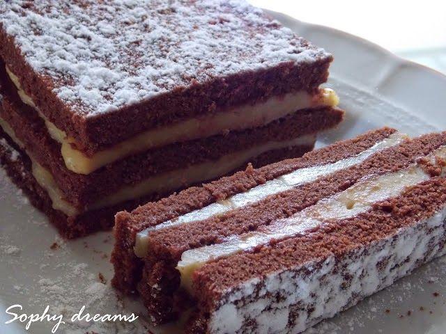 Νηστισιμο+κεικ+σοκολατας+με+λαχταριστη+κρεμα