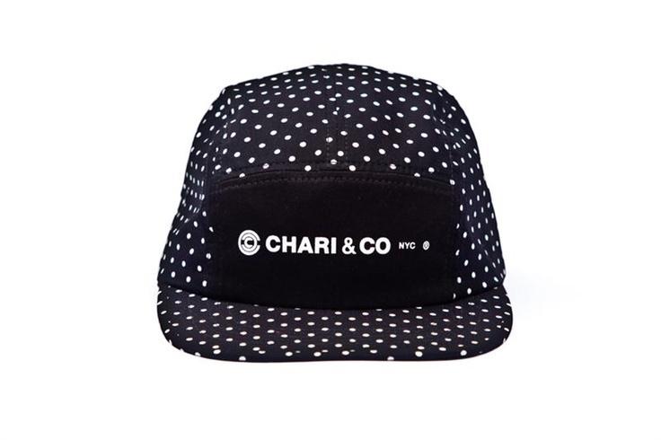 CHARI & CO - SIGNATURE LOGO 5 PANEL CAP POLKA DOT BLK    http://Pinterest.com/Treypeezy  http://OceanviewBLVD.com