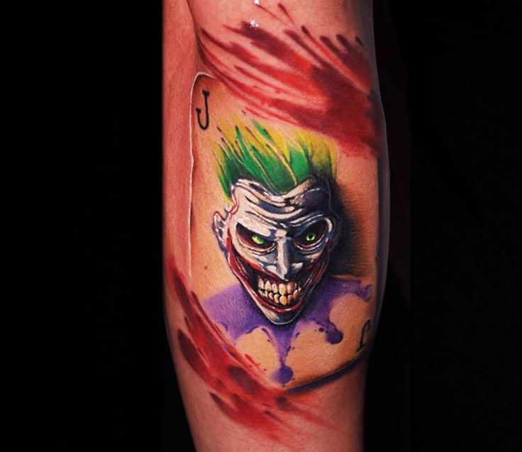Joker Card Tattoo Ideas: Joker Card Tattoo By Ben Ochoa