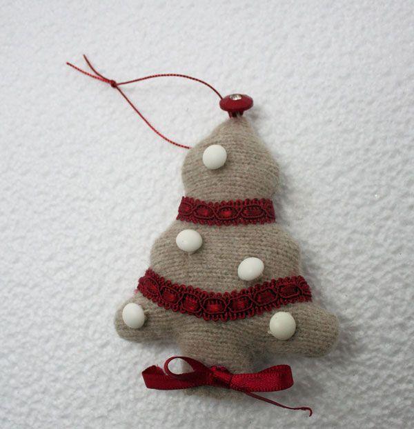 Voglio il mondo a colori: Da maglione infeltrito a decorazione per l'albero di Natale