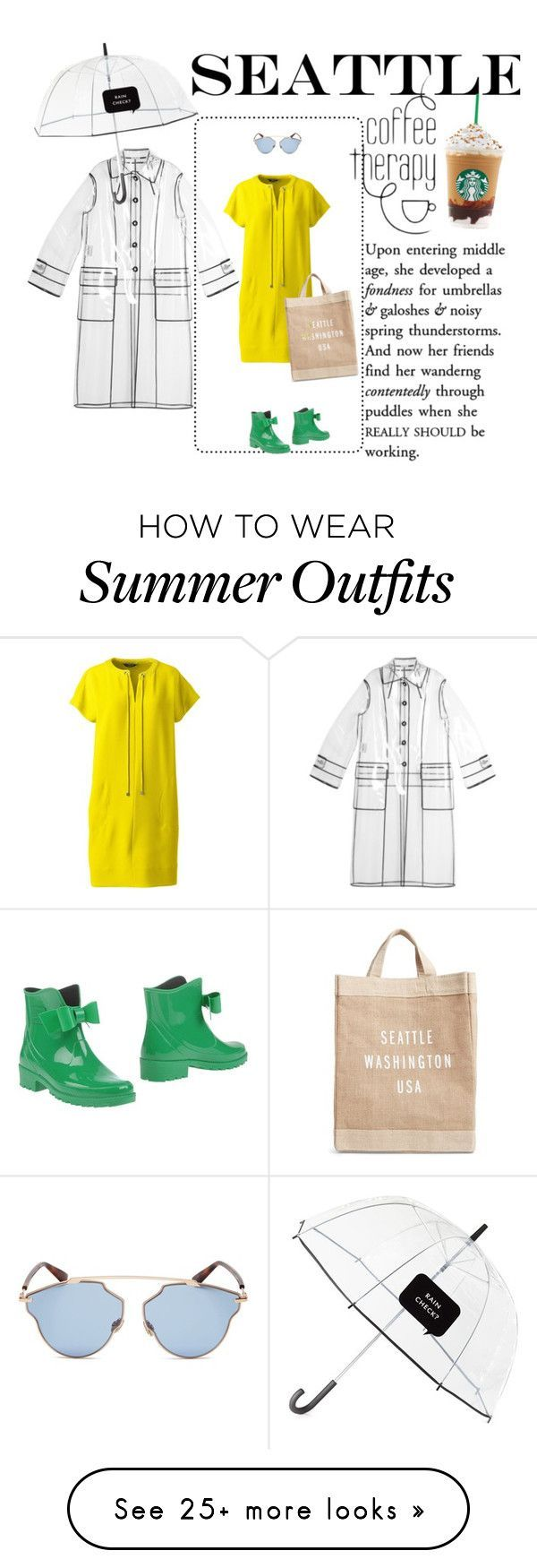 Summer Outfits : Prepared for a Rainy Day by puellasum on Polyvore featuring Miu Miu Kate Spad
