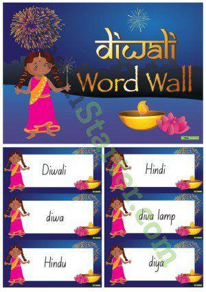 Diwali Word Wall Vocabulary