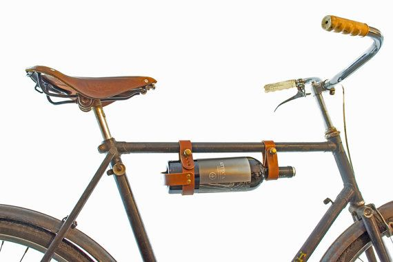 Bicycle Wine Rack  Leather Tan MultiSize by oopsmark on Etsy, $34.00