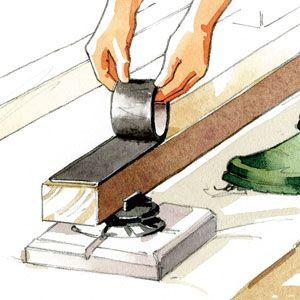 Comment réaliser une terrasse en bois sur un sol stable - Installer les lambourdes