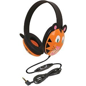 Amazon.com: Califone 2810-TI Kids Stereo and PC Headphones, Tiger Design: Electronics