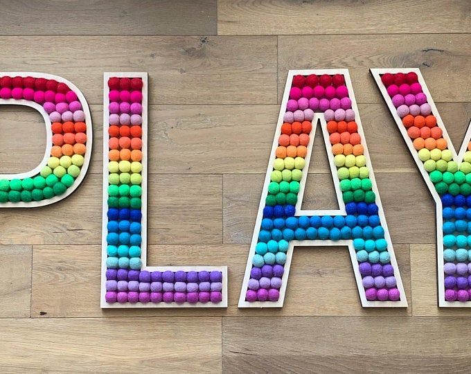 Tall Play Room Letters In 2020 Playroom Toddler Playroom Lettering