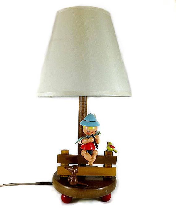 Here Is A Child Baby Lamp Made By Nursery Originals In The 1950s Or 60s Irmi Was Wife Of Owner Who Did Designs Which Were Usually Pastel