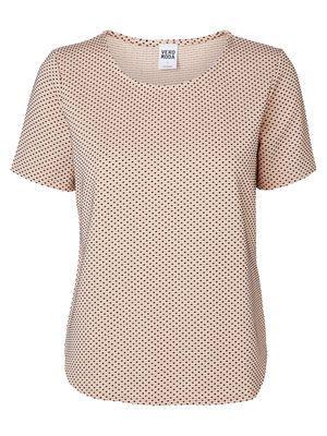 Dotted 2/4 sleeved blouse, Mahogany Rose, main