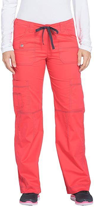 8f6dd485b1c Amazon.com: Dickies Women's Scrubs Gen Flex Junior Fit Contrast Stitch Cargo  Pant,