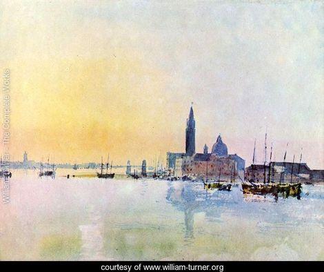 Venice, San Guirgio from the Dogana: Sunrise - Joseph Mallord William Turner
