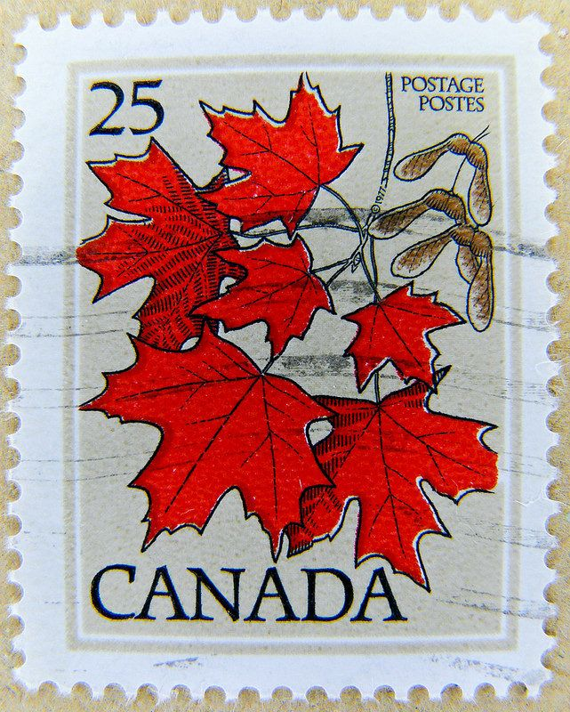 Great Stamp Canada 25c Maple Leaf Ahornblatt 枫叶 Hoja De Acre