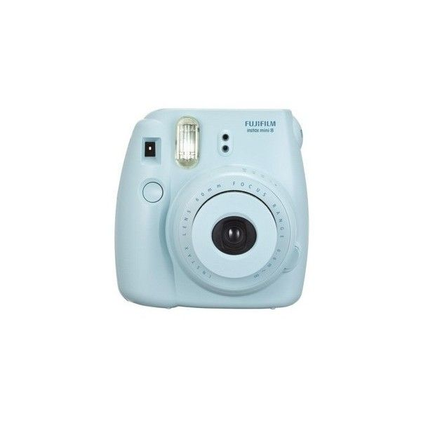 Fujifilm Fujifilm Instax Mini 8 instant camera Blue my (99 AUD) ❤ liked on Polyvore featuring fillers, camera, accessories, electronics and tech