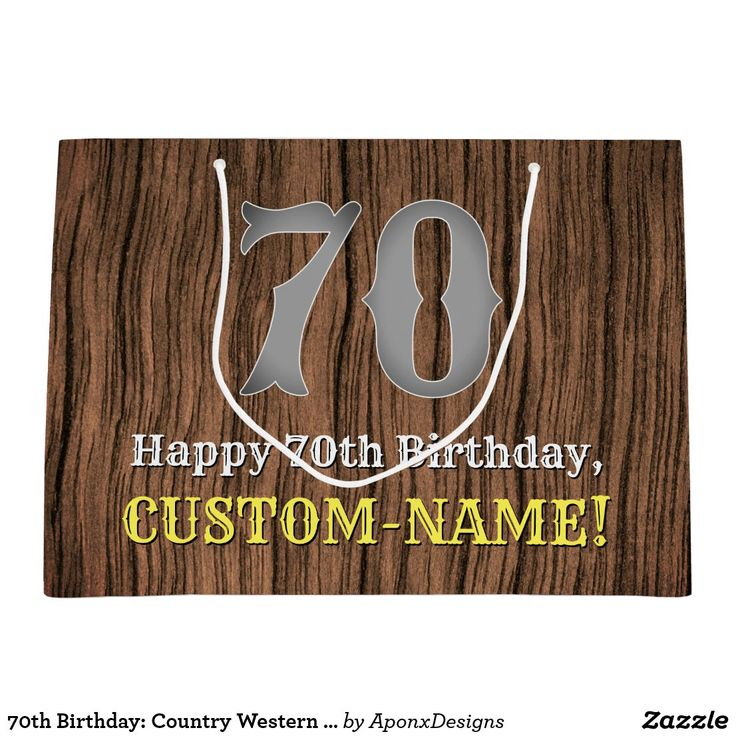 70th birthday country western inspired look name large