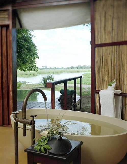 Beautiful Bathroom With Rustic Touches U0026 With A View #bathroombeauties