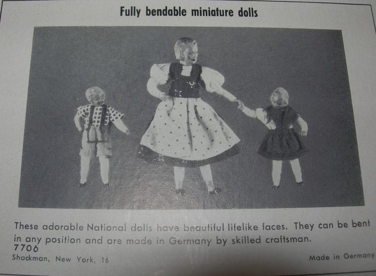 Shackman Bendable Family dolls | eBay