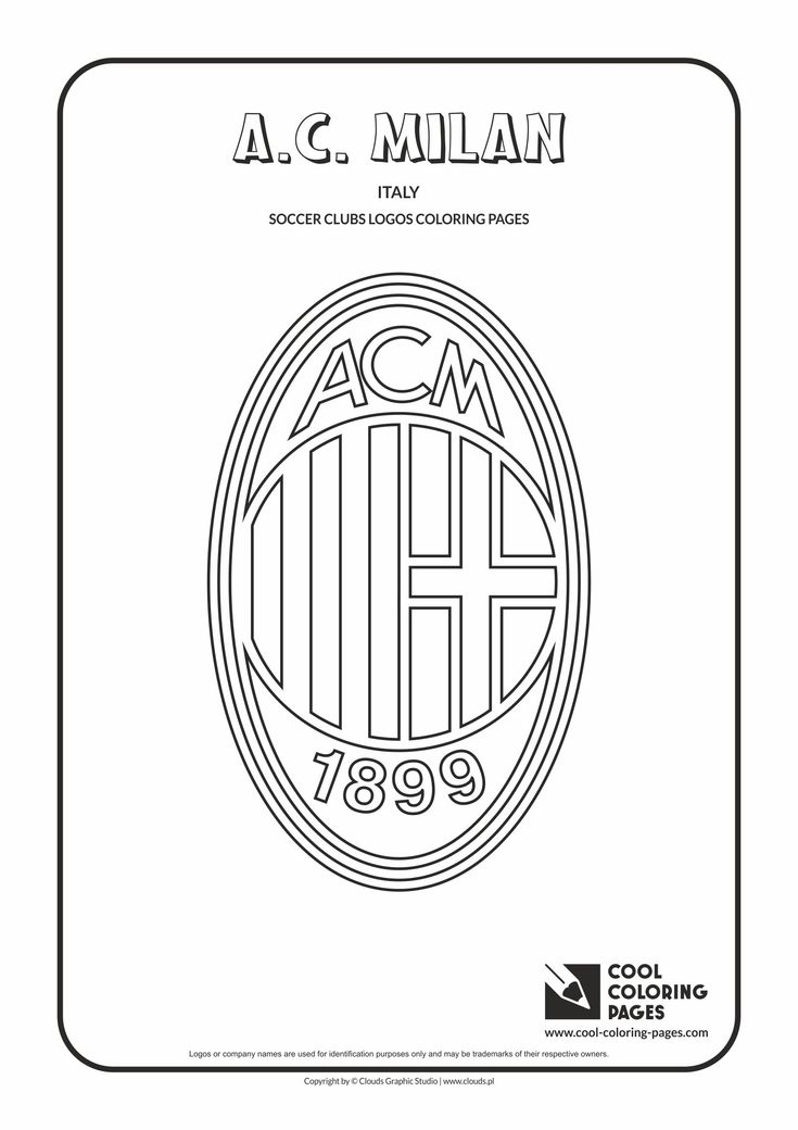 Cool Coloring Pages - Soccer Clubs Logos / A.C. Milan logo / Coloring page with A.C. Milan logo