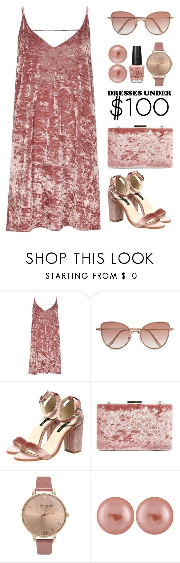 """""""Under $100: Summer Dresses"""" by rasa-j ❤ liked on Polyvore featuring River Island, Cutler and Gross, Glint, Olivia Burton, Splendid Pearls, OPI, under100 and womensFashion"""