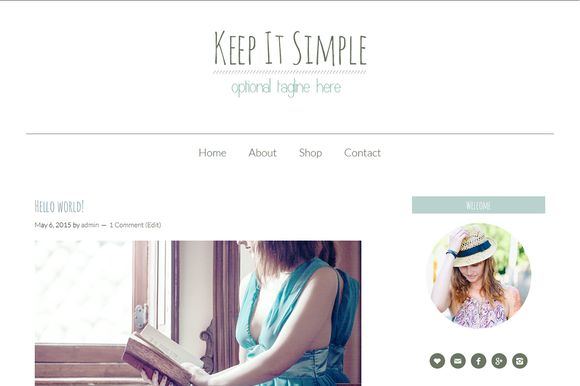 Keep it simple - WordPress Theme by Elan Blog Studio on Creative Market