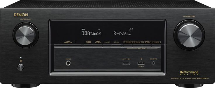 Denon AVR-X3200W IN-Command. Take command of your entertainment. Denon receivers have a great track record with our customers, thanks to their combination of cool features and impressive sound quality.