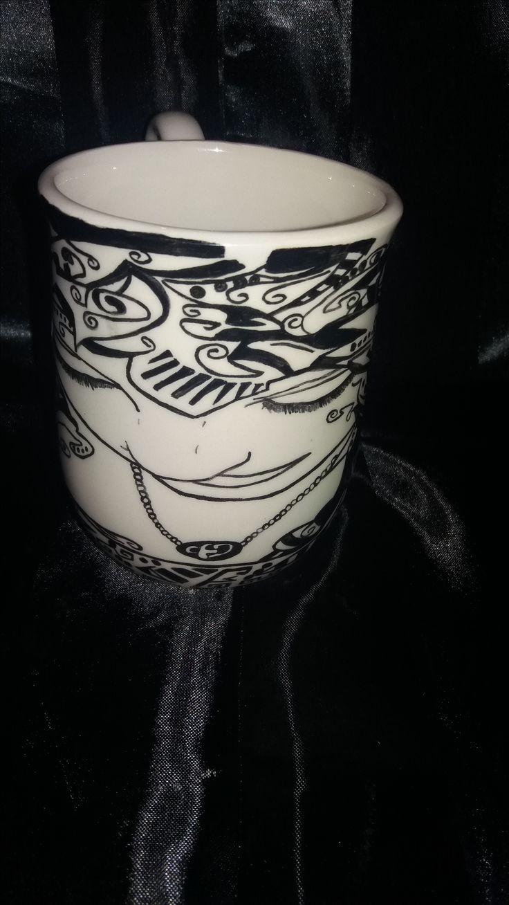 Fairy face hand painted coffee mug. I just love this mug.