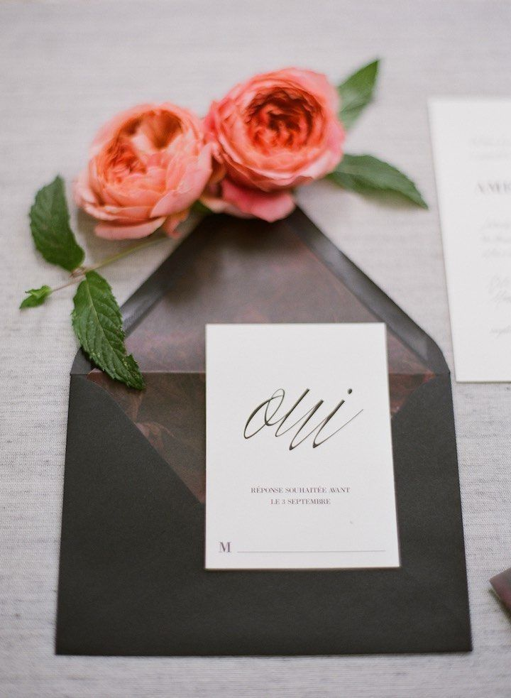 vintage country garden wedding invitations%0A Montreal Wedding Inspiration with Moody Romance