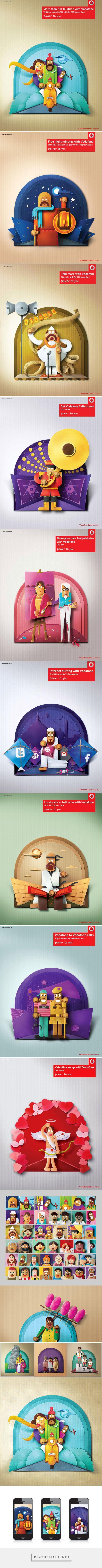 Vodafone India on Behance - created via http://pinthemall.net
