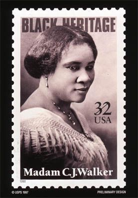How Did Madame CJ Walker Revolutionize Hair Care and Cosmetics for Black Women?: Madam Walker Commerative Stamp