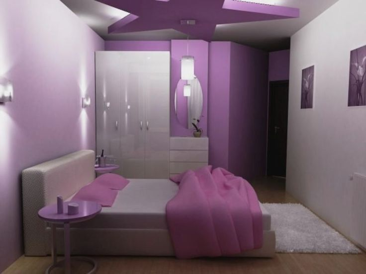 Fancy Teenage Girls Bedroom Decor Ideas In Purple White Scheme With  Excellentu2026
