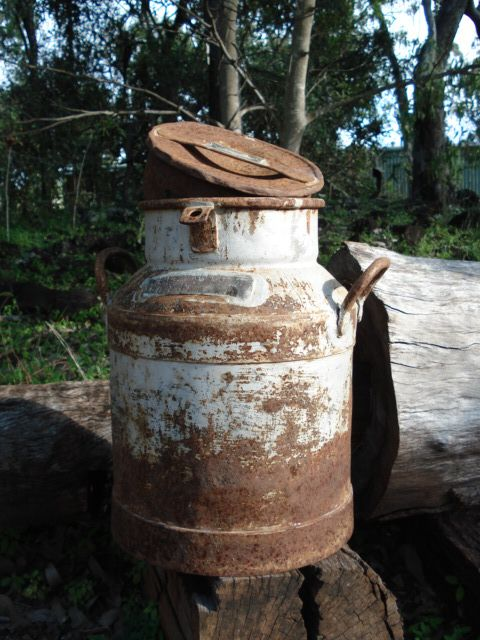 """Old Milk Vat, great as an alternative to """"Wishing Well"""" or for flower arrangements or just as a prop... approx 75cm high"""