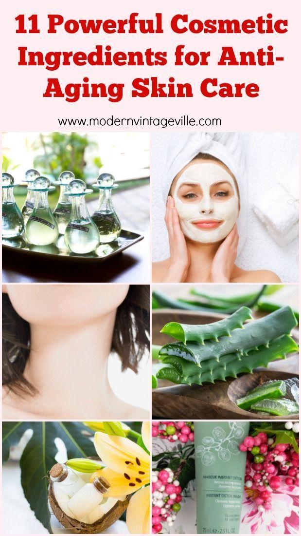 11 Powerful Cosmetic Ingredients For Anti Aging Skin Care Modern Vintage Ville Anti Aging Skin Products Anti Aging Skin Care Skin Care