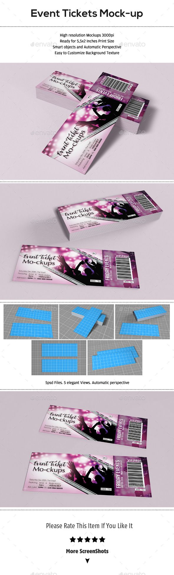 Event Tickets Mock Up  How To Make Tickets For An Event Free