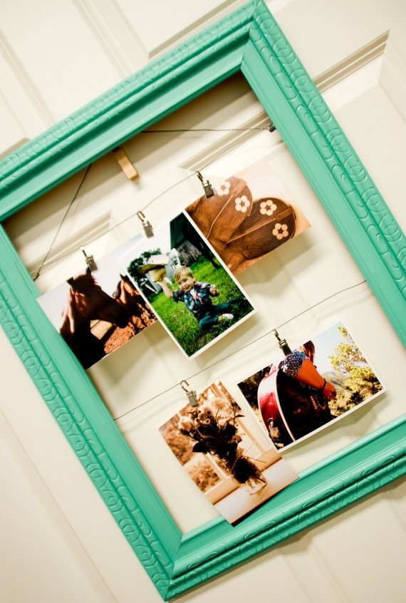 This can be DIY if you find glassless frames at yard sales...