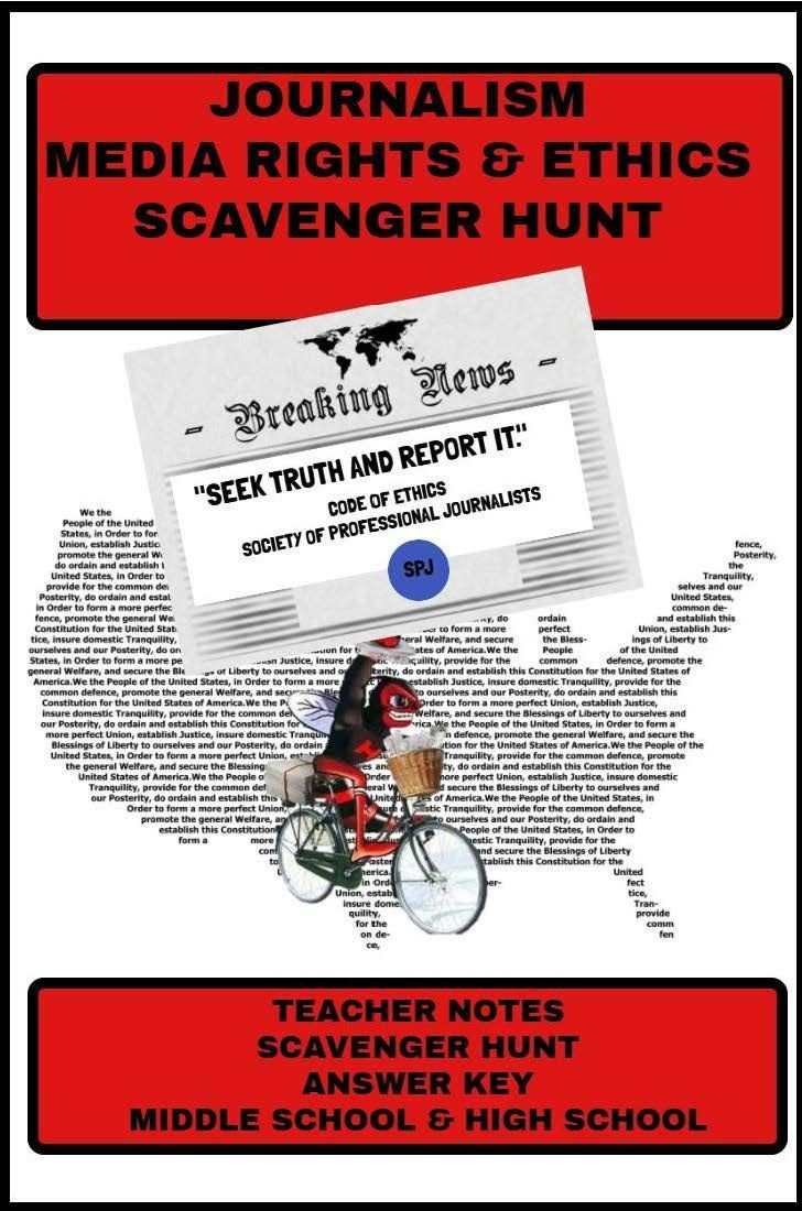 Download And Print Journalism Rights And Ethics Scavenger Hunt This 21 Question Search Requires Students To Use Their Rep Journalism Ethics Scavenger Hunt [ 1100 x 728 Pixel ]