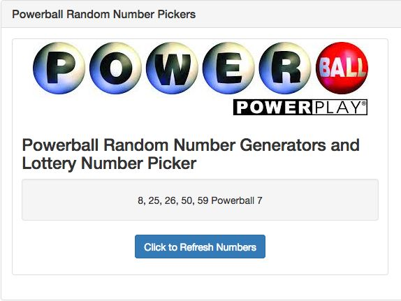 Powerball Random Number Generators and Lottery Number Picker, Quick Pick - CIGRAT.COM