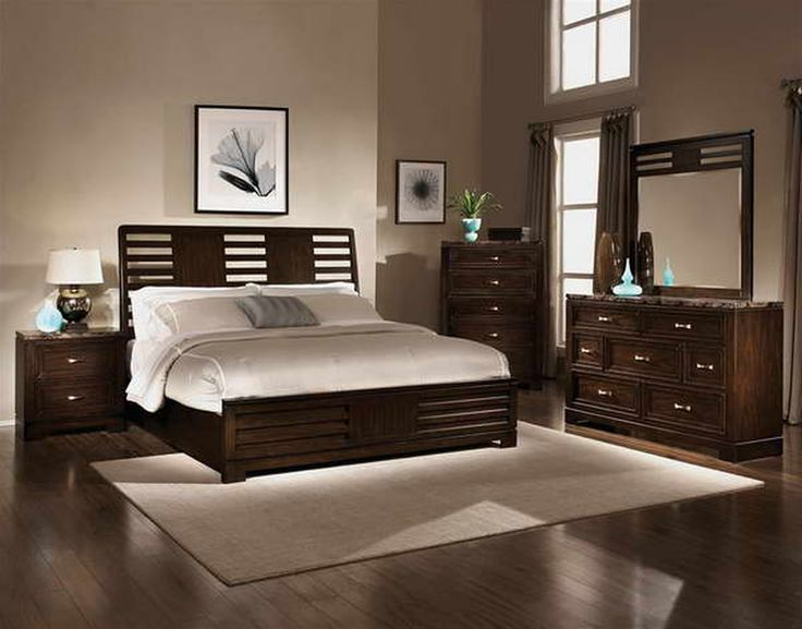 Best 25 brown bedroom furniture ideas on pinterest blue bedrooms black spare bedroom - Beautiful bed room wall color ...