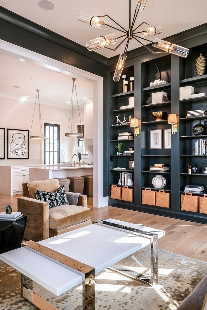 32 Dark Living Room Design For Home Decor Your Room Might Feel Constrictive And Little Base Transitional Interior Design Transitional Interior Interior Design