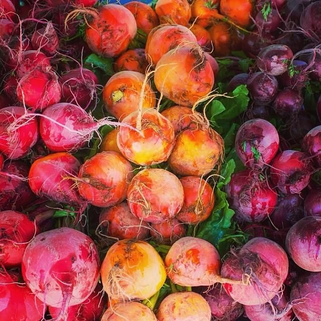 Colorful beets at the Ojai Farmers Market. Photo courtesy of basakbprince on Instagram | travelandleisure.com