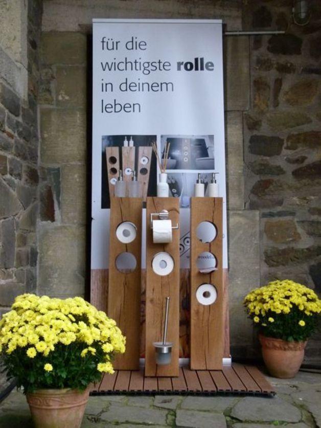 Klopapierhalter - woodel system (Modell Einloch, Variante B) - ein Designerstück von Dein_woodel bei DaWanda
