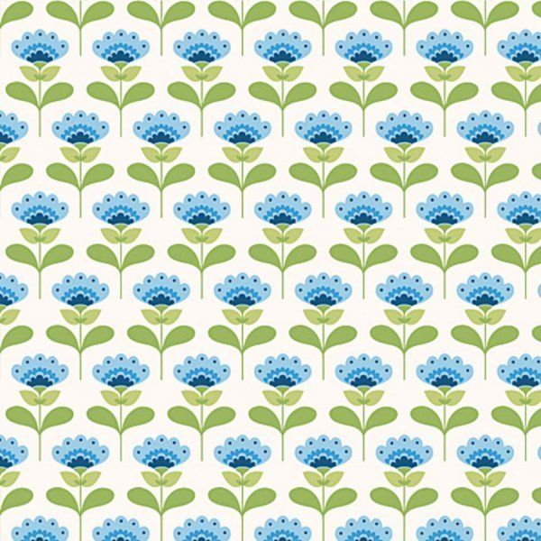 TILDA Stoff Molly blau grün weiß  von Baumwollschmiede   auf DaWanda.com