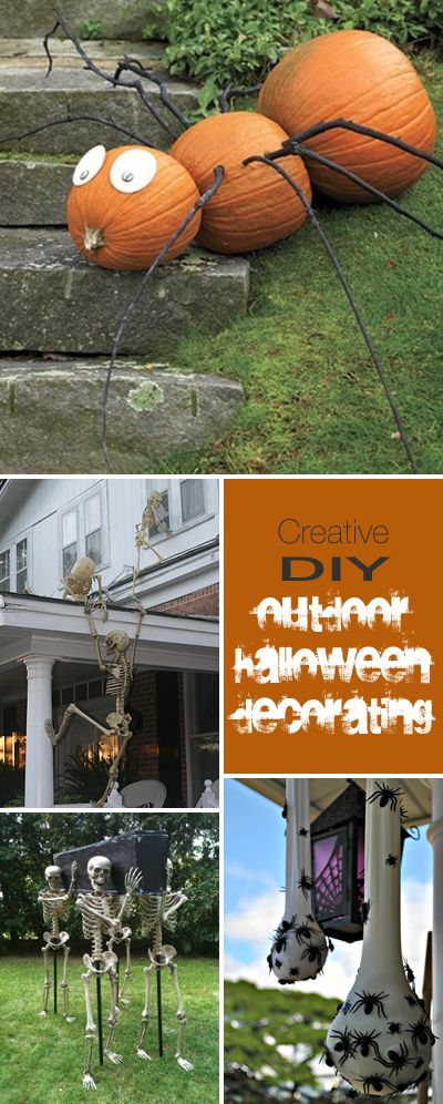 Best 25 outdoor halloween decorations ideas on pinterest diy creative diy outdoor halloween decorating solutioingenieria Image collections