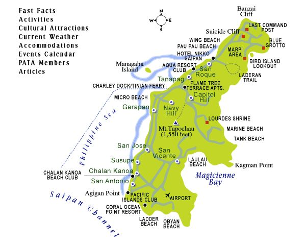 map of Saipan