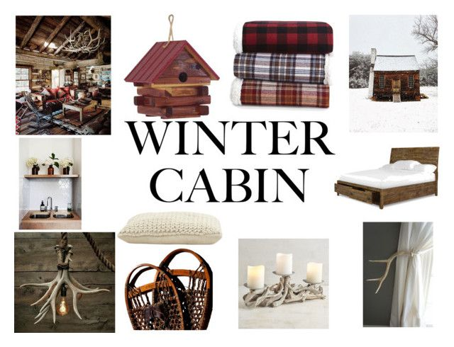"""Winter Cabin"" by gothicvamperstein on Polyvore featuring interior, interiors, interior design, home, home decor, interior decorating, Stetson, Jayson Home, DutchCrafters and Stone Fox"