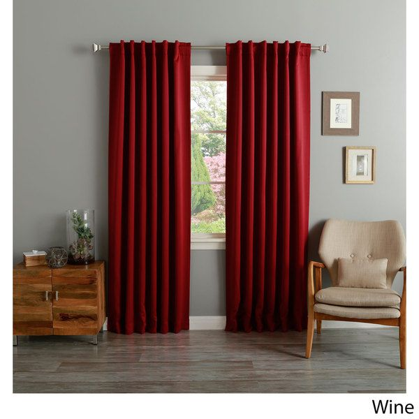 Thermal Rod Pocket 95-inch Blackout Curtain Panel Pair - Overstock™ Shopping - Great Deals on Curtains