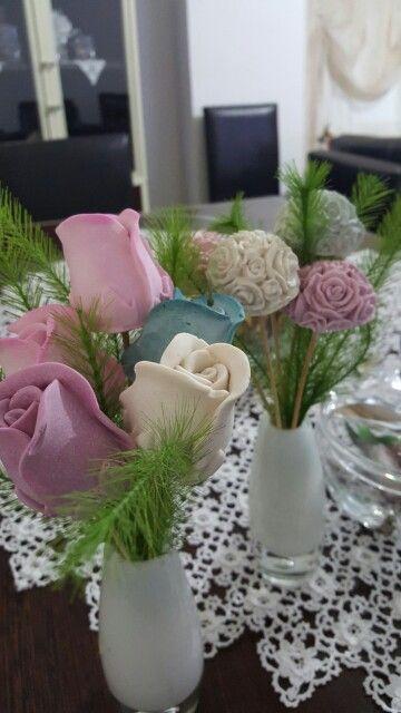 Kokulu taş çiçek buketi