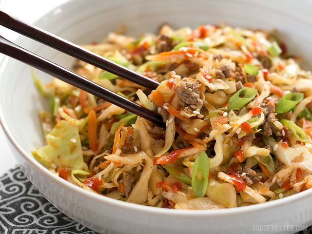 """A few weeks ago I got an email from Angela touting the deliciousness of a dish called """"Crack Slaw"""". With such an interesting name, I had to check it out. It's basically a quick stir fry made with cabb"""