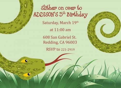 The 7 best brycens 8th birthday images on pinterest 8th printable snake or reptile birthday party invitation filmwisefo