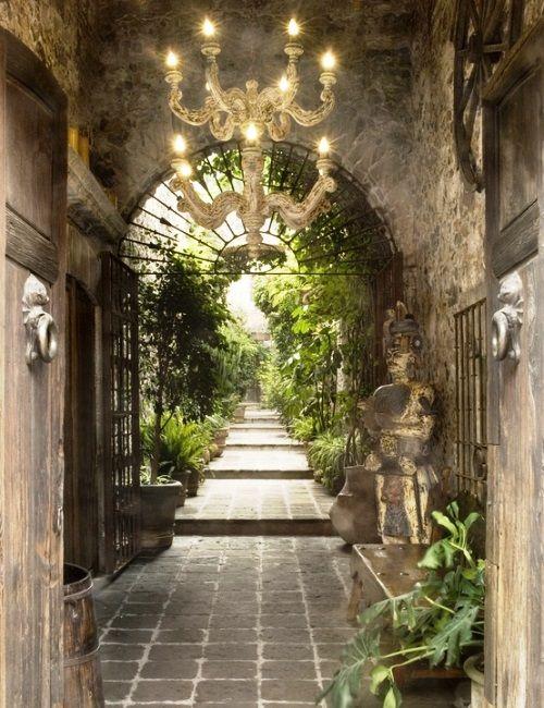 Mexican style house - garden entry - Traditional Style - Gracious Gardens