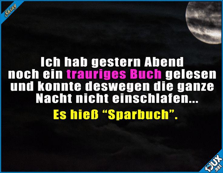 Einfach zu traurig! T.T #Sparbuch #Kirchenmaus #Humor #Sprüche #lustigeBilder #Jodel #lachen #einschlafen #Buch #lesen #sparen #arm